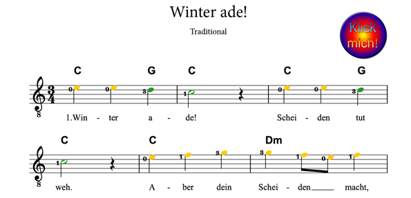 Winter ade, www.Klimperfibel.de